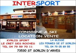 2 magasins Intersport, location de ski à saint Sorlin d'Arves